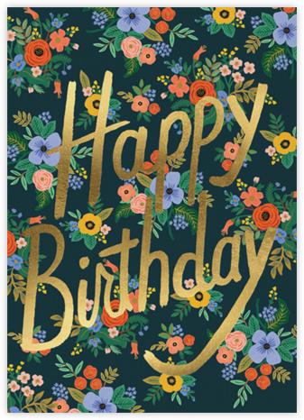 Garden Birthday - Dark Blue - Rifle Paper Co. -