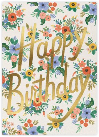 Garden Birthday - Cream - Rifle Paper Co. - Birthday Cards