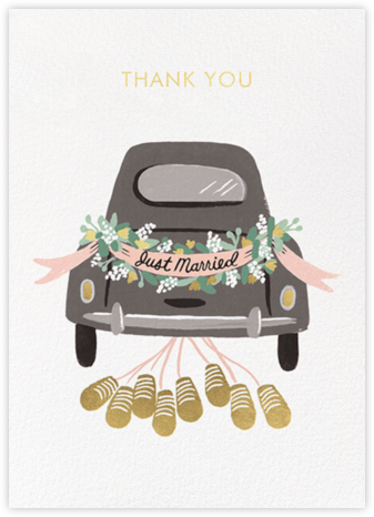Just Married Getaway Thank You - Rifle Paper Co. - Online Thank You Cards