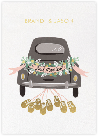 Just Married Getaway Thank You - Rifle Paper Co. - Wedding Announcements