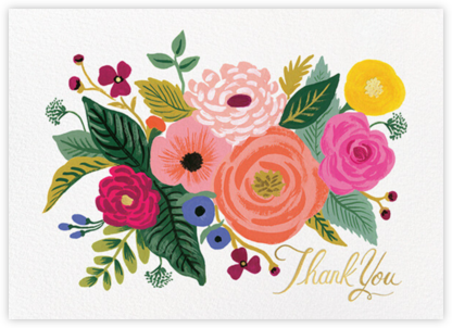 Juliet Rose Thank You - Rifle Paper Co. - Online Thank You Cards