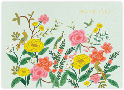 Shanghai Garden Thank You - Rifle Paper Co. - Online Thank You Cards