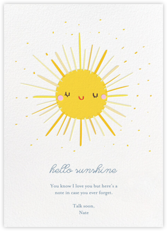 Sunny Greetings - Little Cube - Just Because Cards