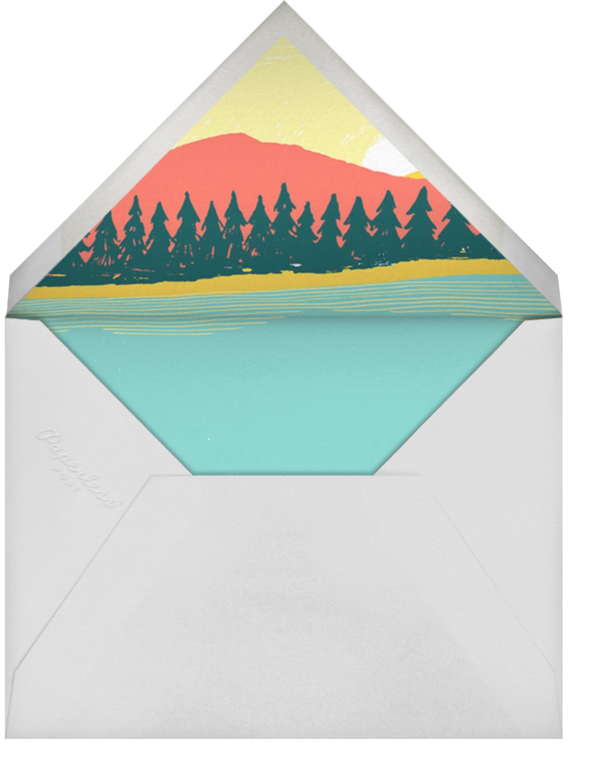 Muskoka Sunset - Paperless Post - Bonfire Party - envelope back
