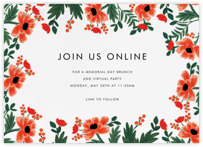 Field Poppies (Horizontal) - Rifle Paper Co. -
