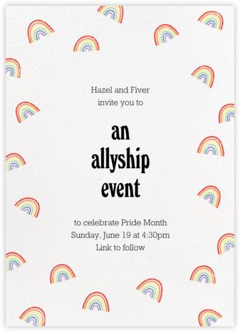 Raining Rainbows - Paperless Post - Pride Party Invitations