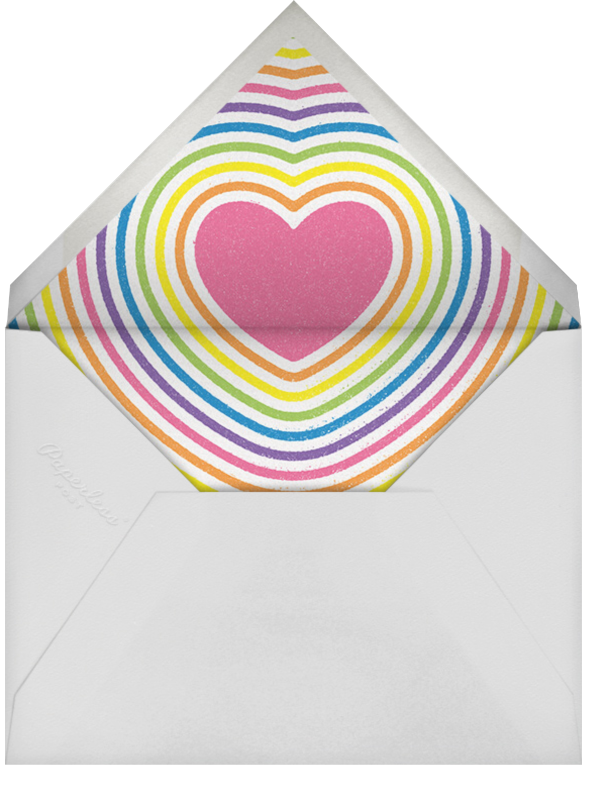 Round Rainbow - Paperless Post - Pride party - envelope back