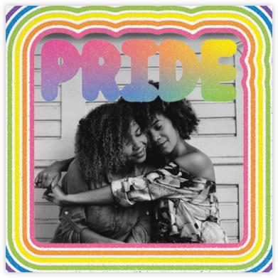 Round Rainbow Photo - Paperless Post -
