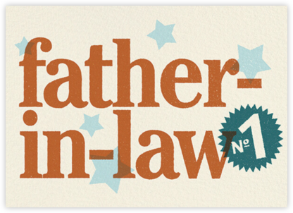 No 1 Like You (Father-in-law) - Paperless Post -