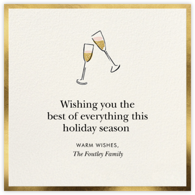 Cute Flutes - kate spade new york - Holiday Cards