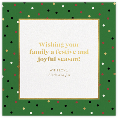 Well Wrapped - Forest Green - kate spade new york - Holiday Cards