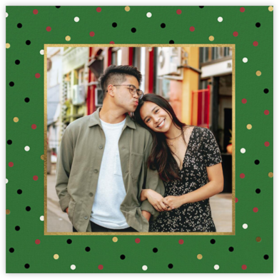 Well Wrapped Photo - Forest Green - kate spade new york - Holiday Cards