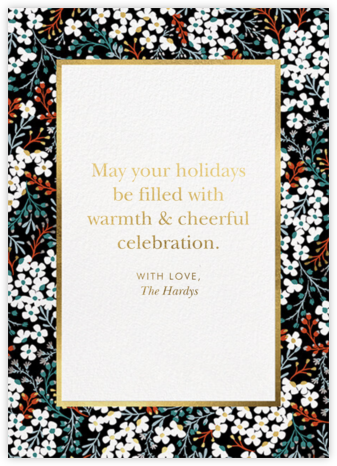 Winter Blooms - kate spade new york - Holiday Cards