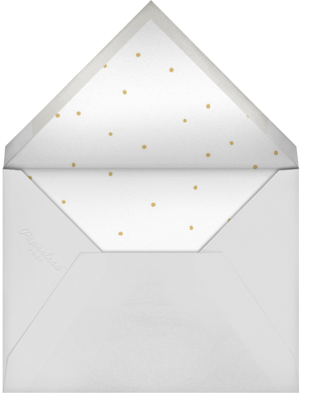 Gold Lines (Twins) - Sage - Sugar Paper - Envelope