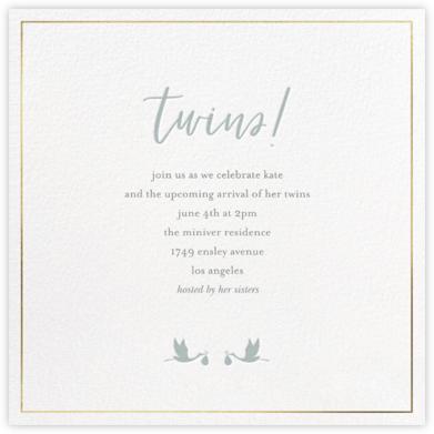 Small Storks - Sage - Sugar Paper