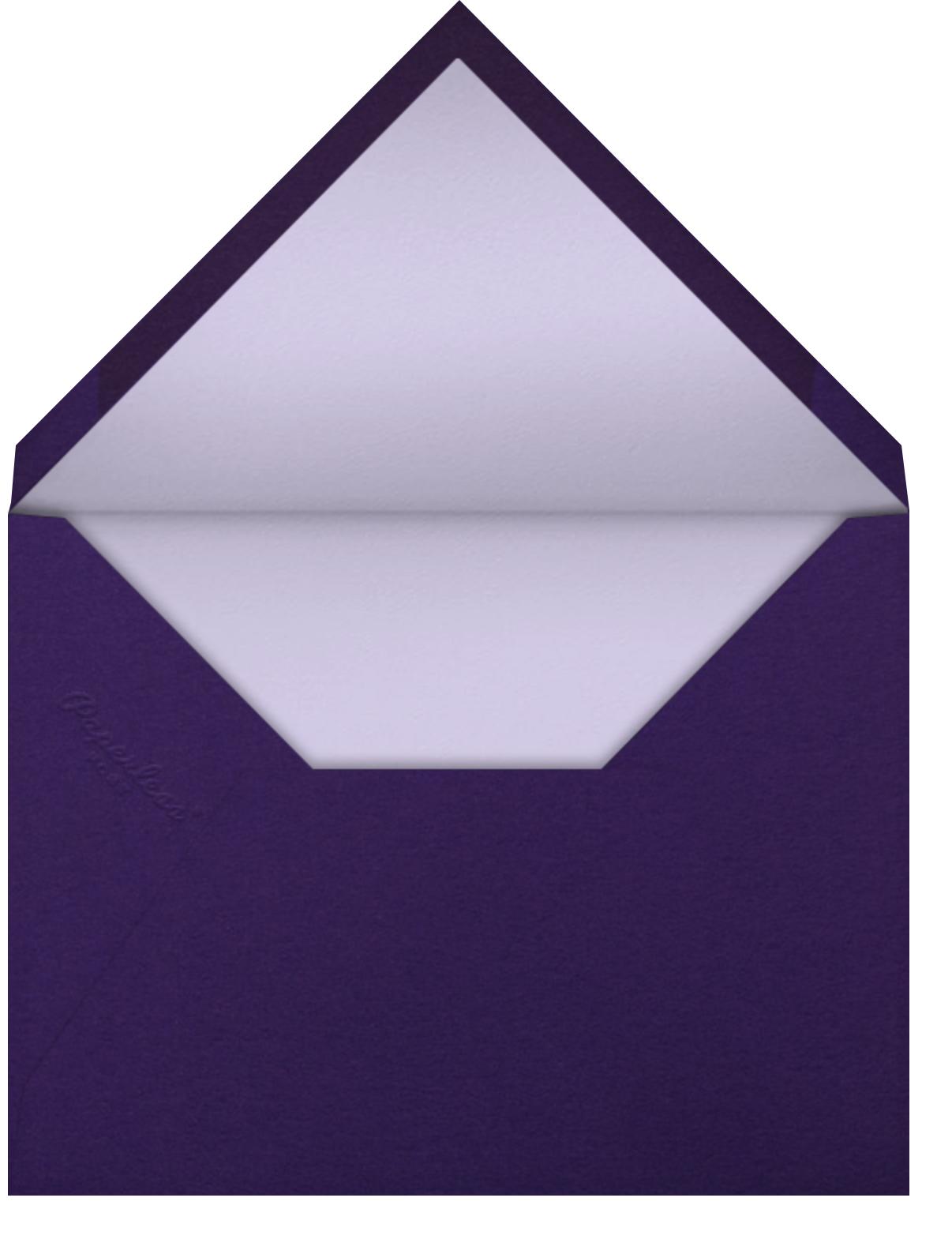 Mitzvah Marquee (Purple) - Bat  - Paperless Post - Envelope