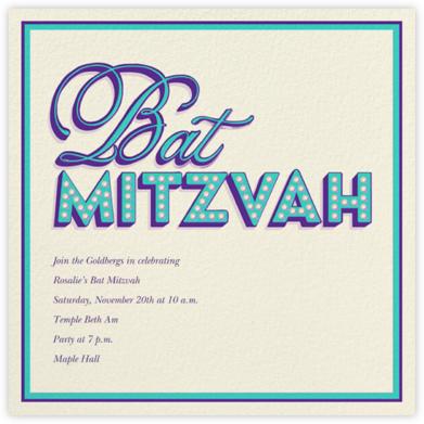 Mitzvah Marquee (Purple) - Bat  - Paperless Post