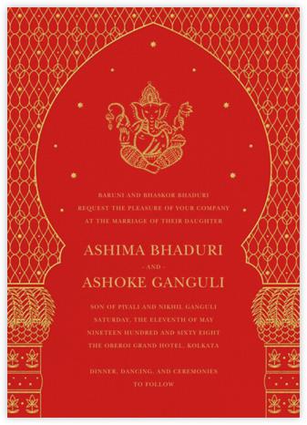 Vinayanka (Invitation) - Red - Paperless Post