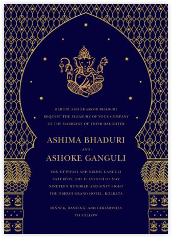 Vinayanka (Invitation) - Royal Blue - Paperless Post