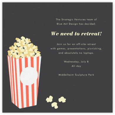 Bucket of Popcorn - Slate - Paperless Post