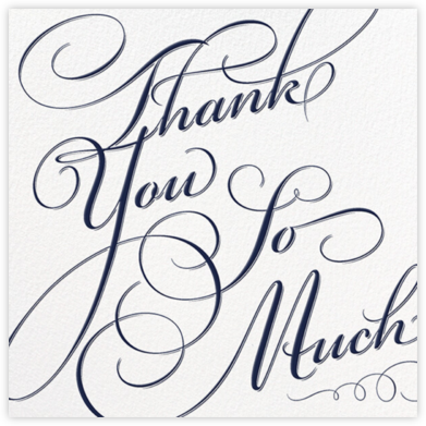 Script Thank You So Much (Navy) - Paperless Post