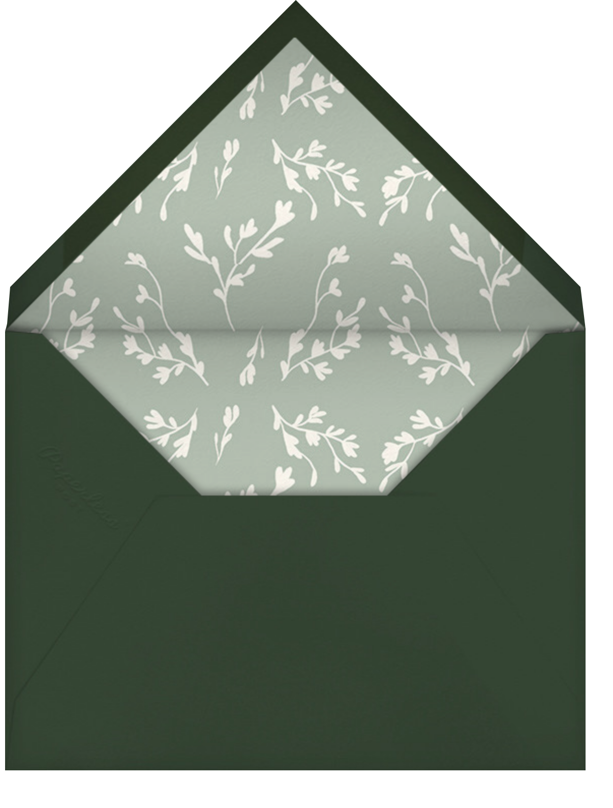 Painted Leaves - Paperless Post - Envelope