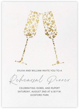 Floral Flutes - Gold - Paperless Post