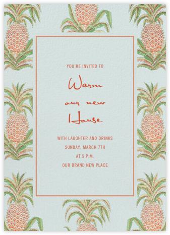 Pineapple Sky - Schumacher - Housewarming Party Invitations