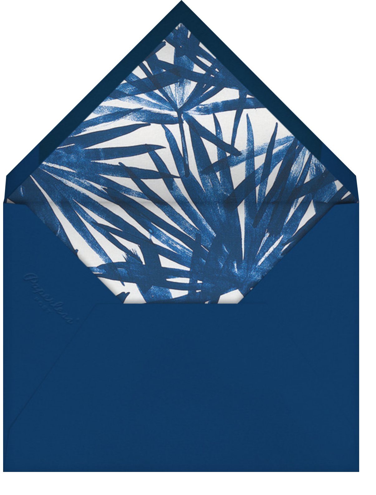 Sunlit Palm - Dark Blue - Schumacher - Envelope