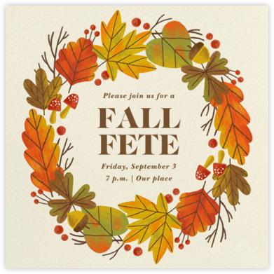 Autumn Wreath - Paperless Post
