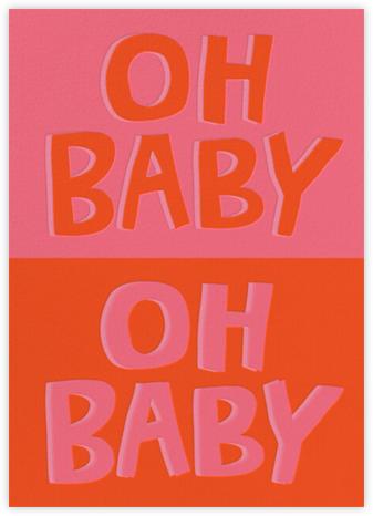 Baby, Baby - Red - Cheree Berry Paper & Design