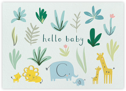 Safari Scene - Little Cube - Baby Shower Invitations