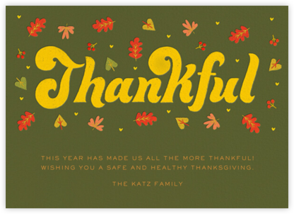 Thankful Groove - Olive - Paperless Post