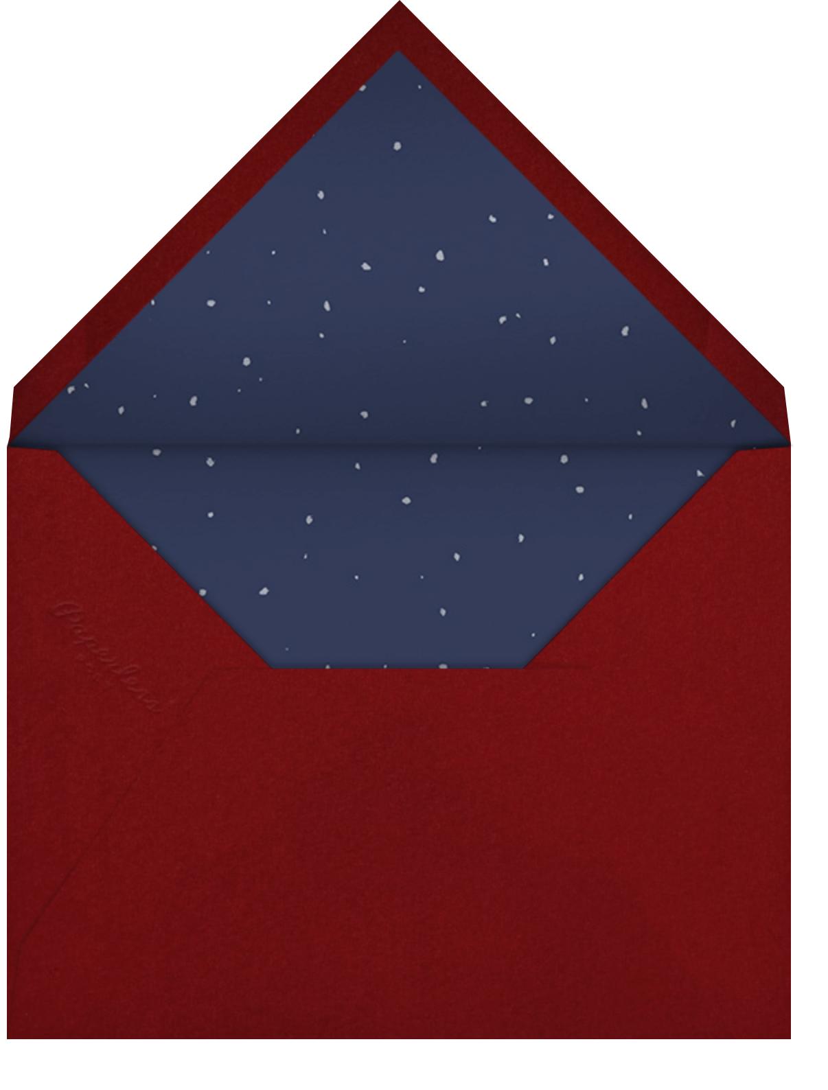 Santa on Rooftop - Paperless Post - Envelope