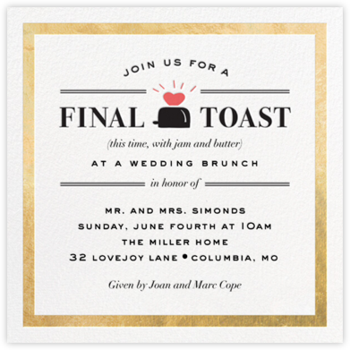 Toast of the Town - Gold - Cheree Berry Paper & Design