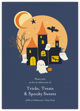 Spooky Home - Little Cube - Halloween invitations
