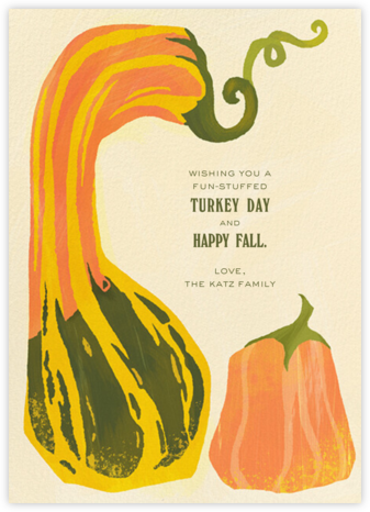Squashed - Paperless Post - Thanksgiving Cards