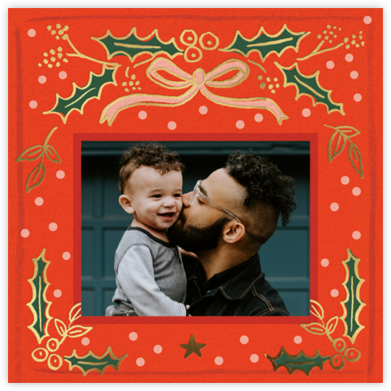 Holly Christmas Photo - Rifle Paper Co.