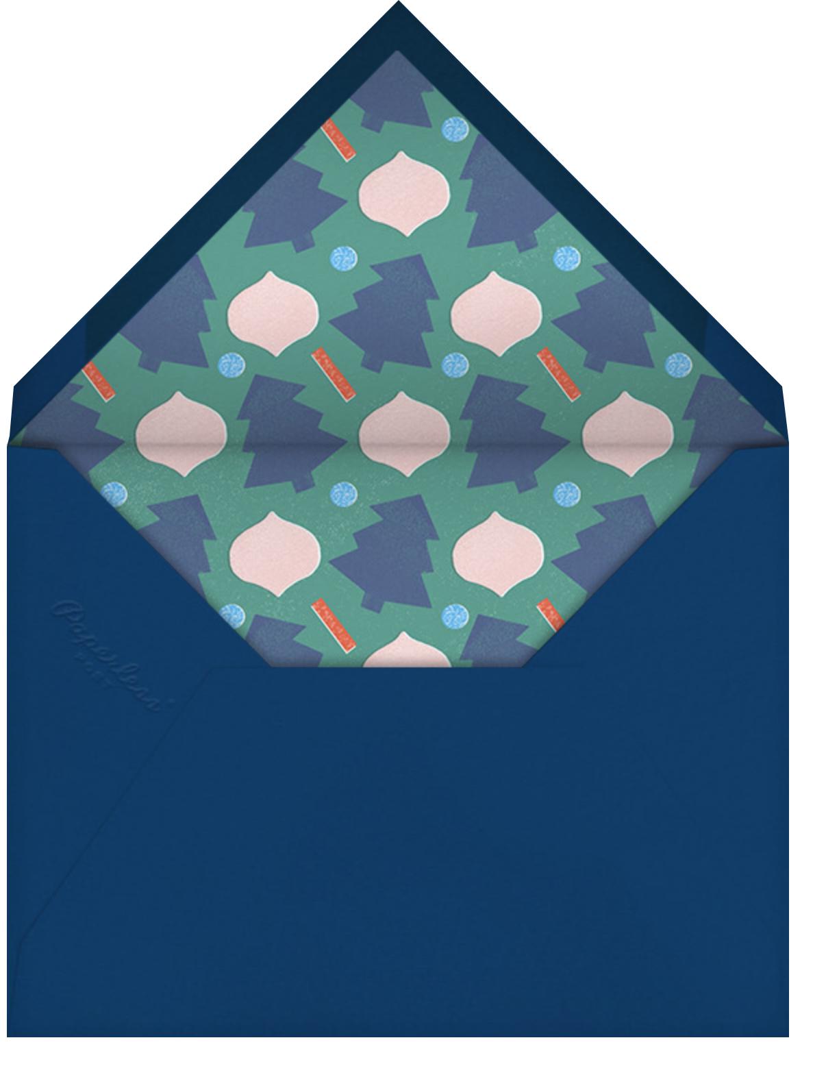 Globe Glitter - Paperless Post - Envelope