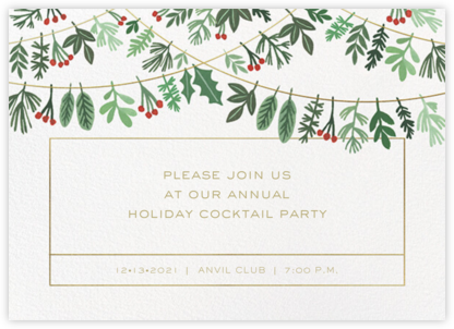 Holiday Hanging - Paperless Post - Company holiday party