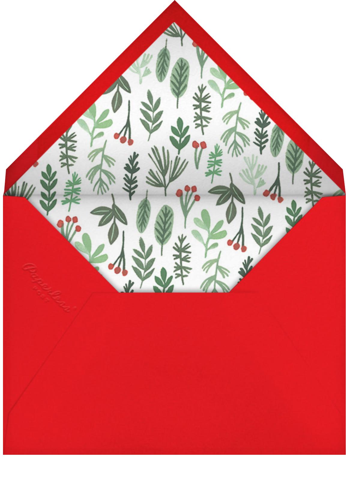 Holiday Hanging - Paperless Post - Envelope