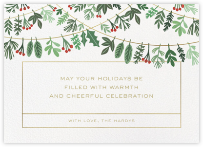 Holiday Hanging - Paperless Post