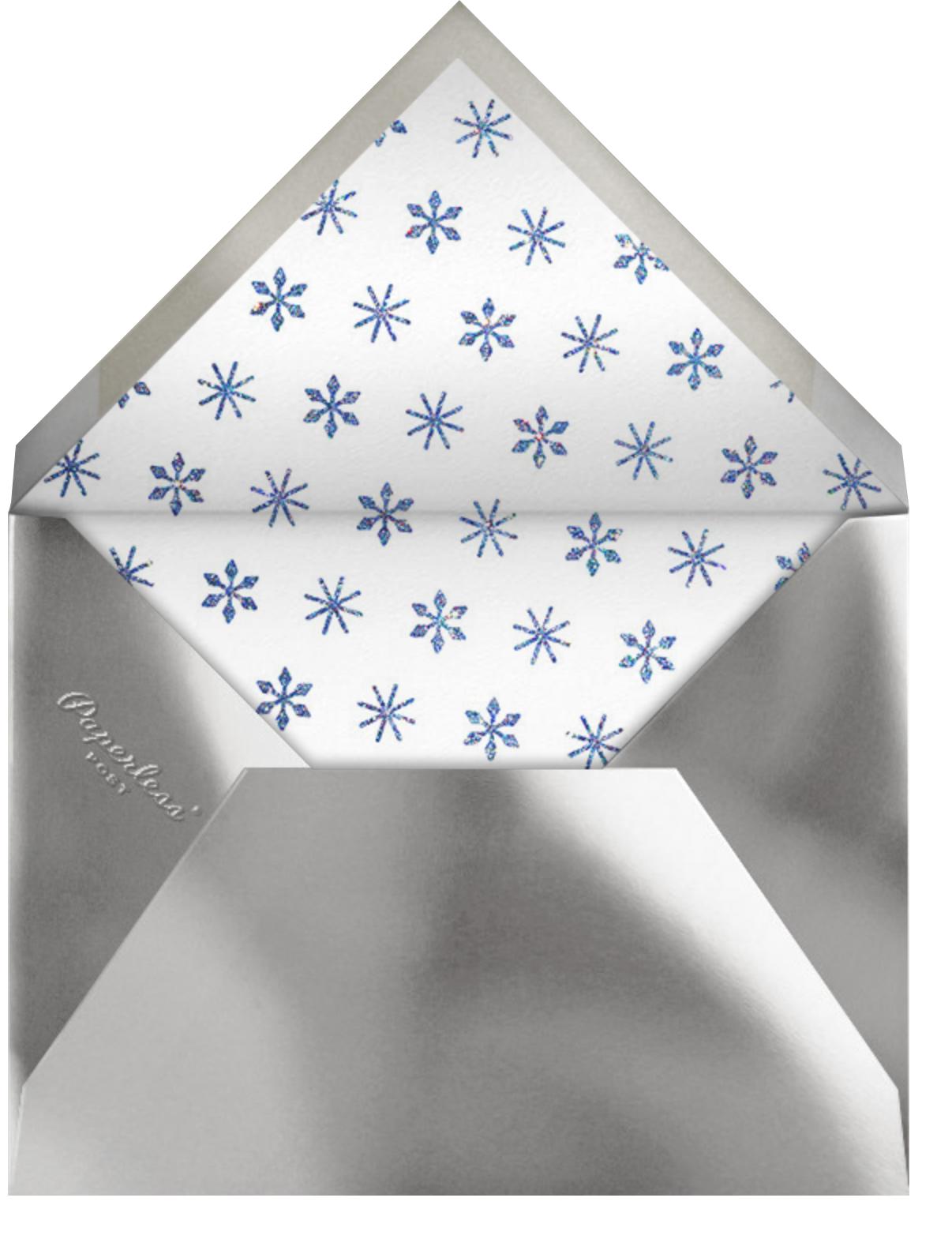 Twinkle Flake - Paperless Post - Envelope