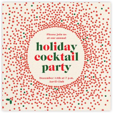 Reverse Snow Globe (Square) - Cream - Cheree Berry Paper & Design - Company holiday party