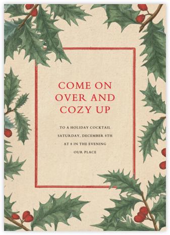 Winterberry Holly - John Derian - Holiday invitations