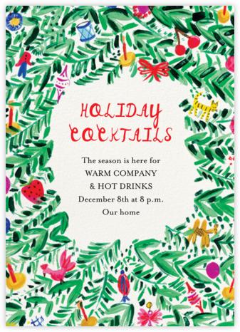 Charming Wreath - Mr. Boddington's Studio - Holiday invitations