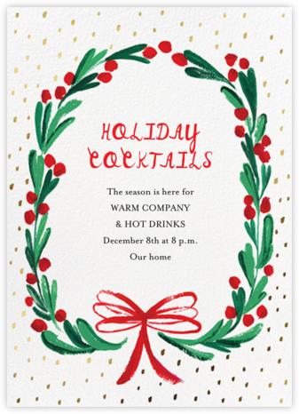 Holly Ring - Mr. Boddington's Studio - Holiday invitations