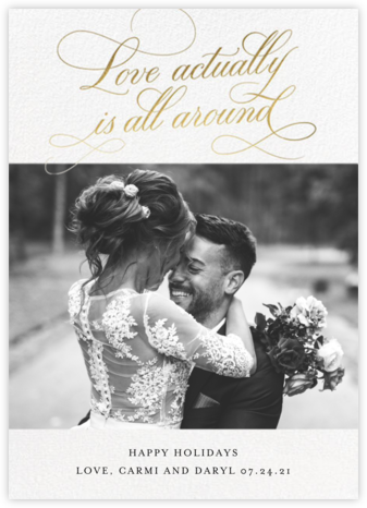 Actually Love - Gold - Cheree Berry Paper & Design