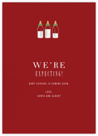 Baby Bottles - Crimson - Paperless Post
