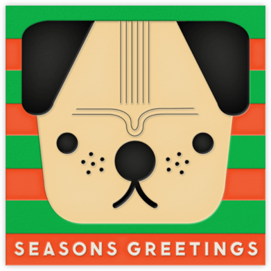 Pug (Greeting) - The Indigo Bunting